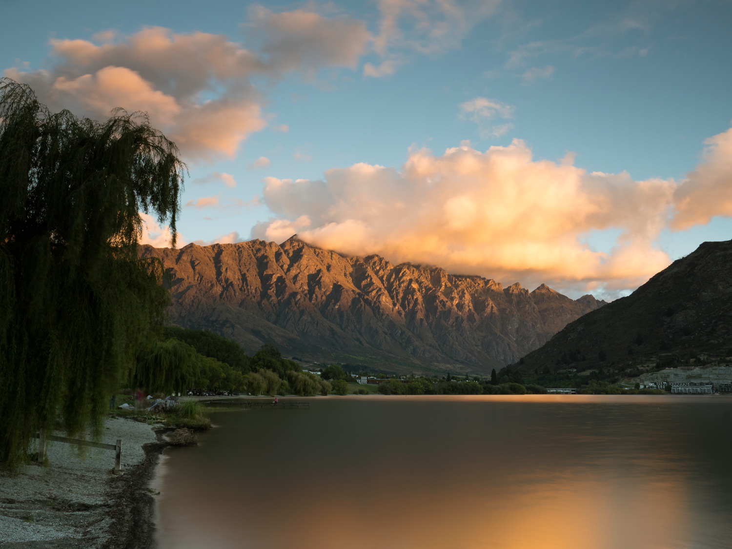 Lake, Mountains, New Zealand, Queenstown, Sunset, Travel, Wakatipu