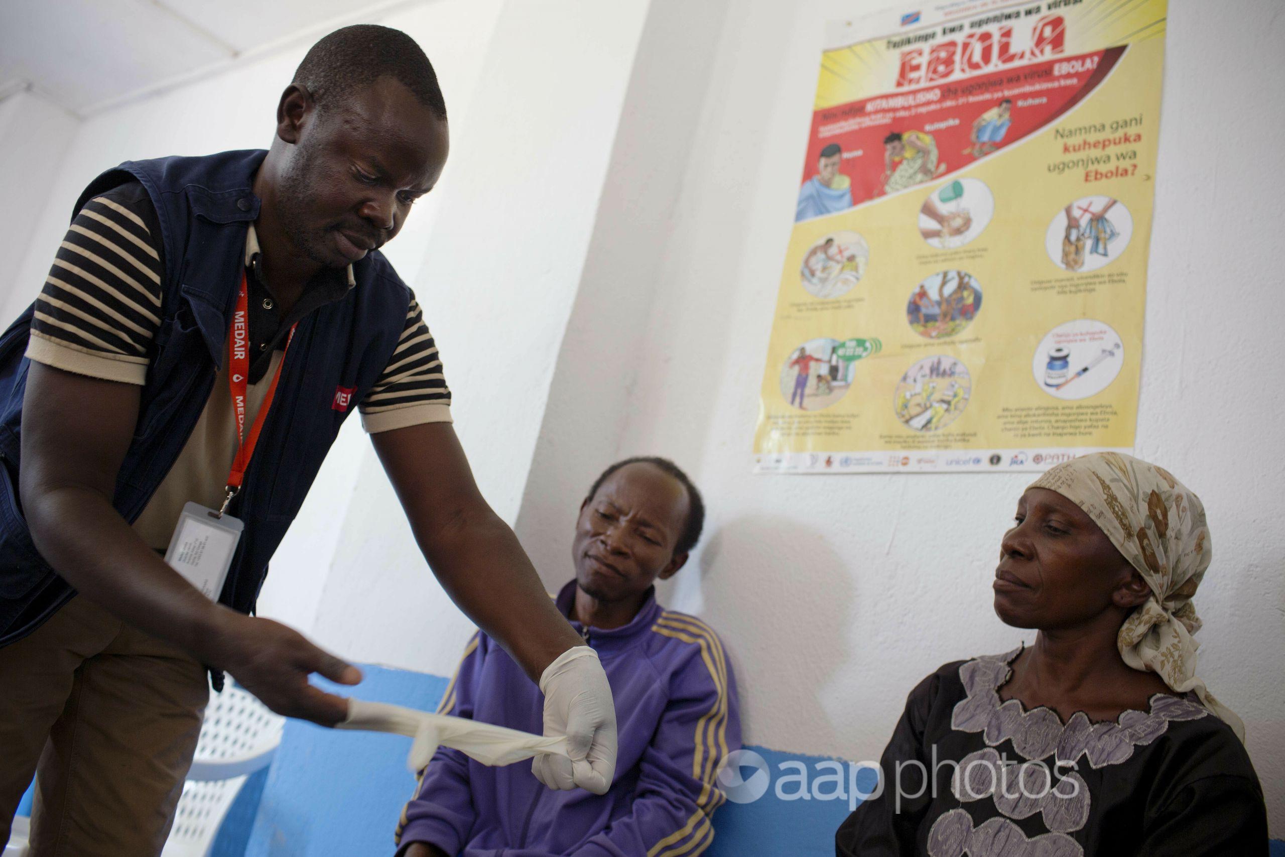 An Ebola prevention campaign in the Democratic Republic of Congo.