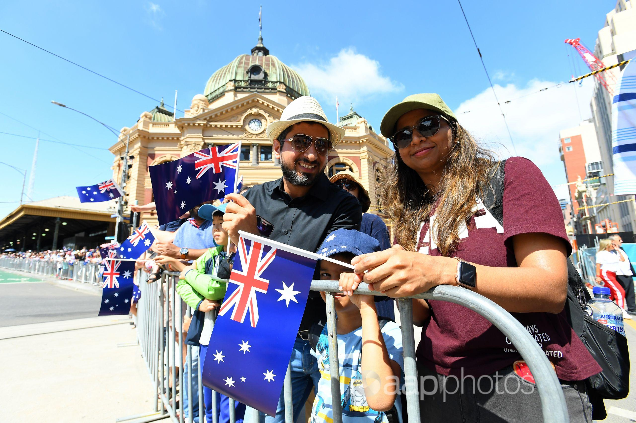 The Australia Day parade celebrations in Melbourne