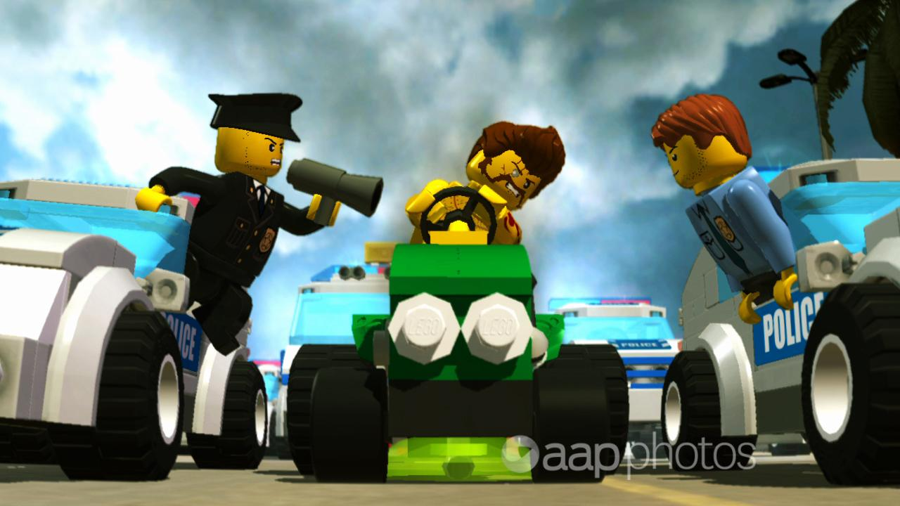 A scene from Lego City Undercover.