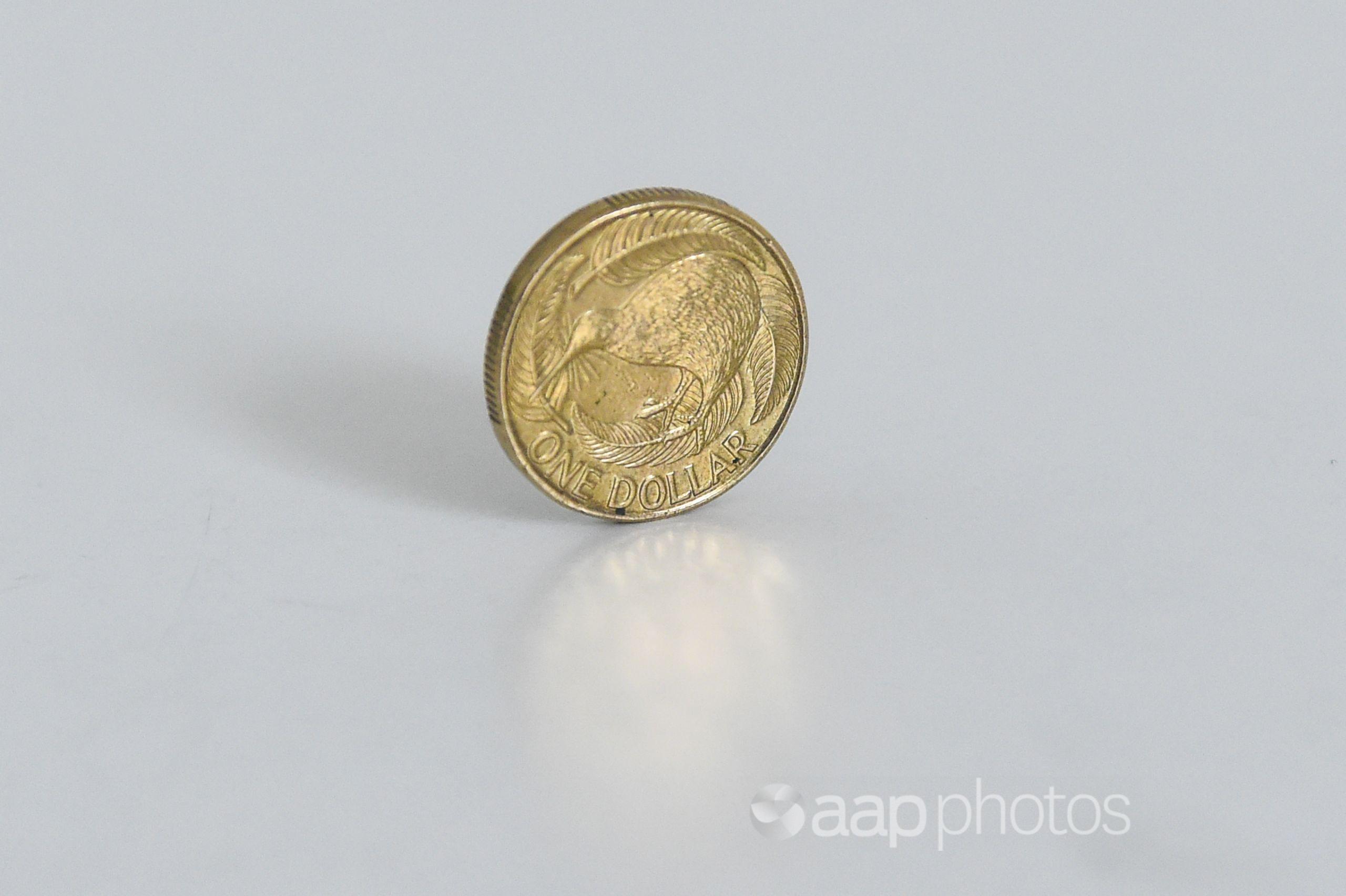 A New Zealand Dollar coin