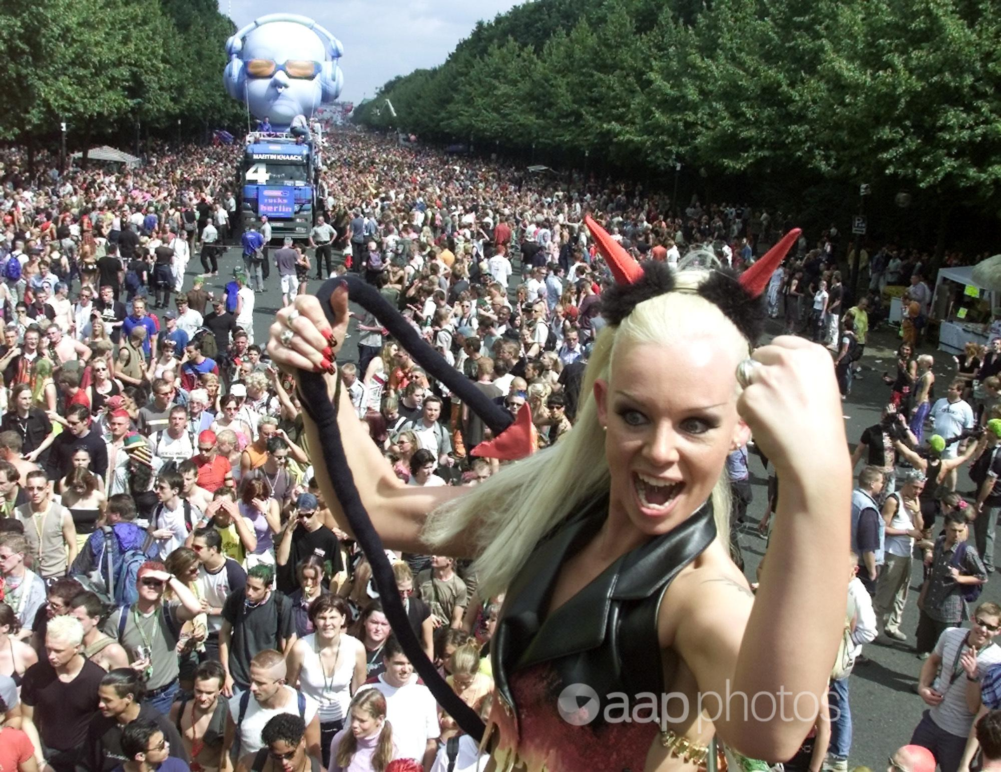 A raver at Berlin's Love Parade.