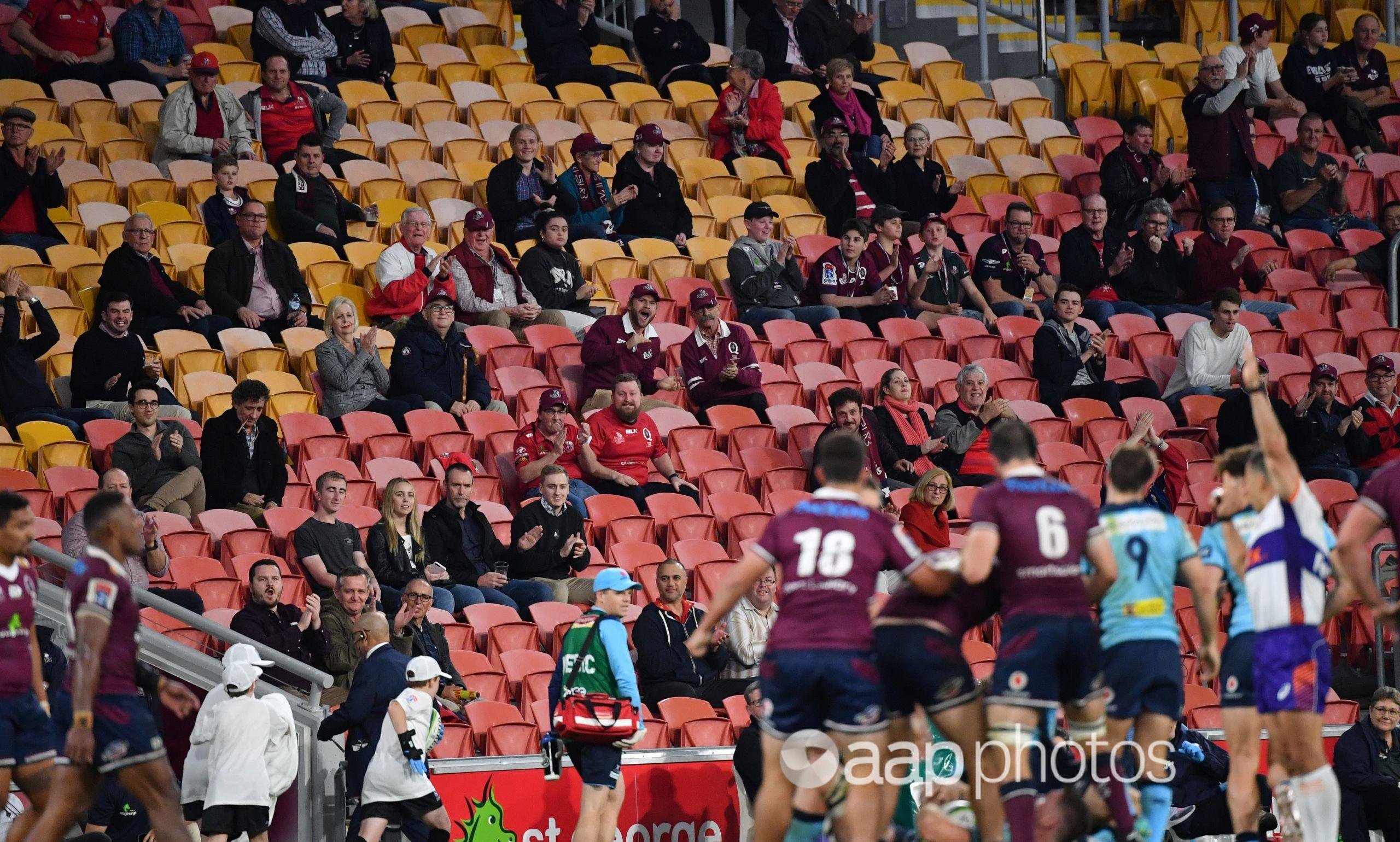 The Super Rugby match between Queensland Reds and NSW Waratahs