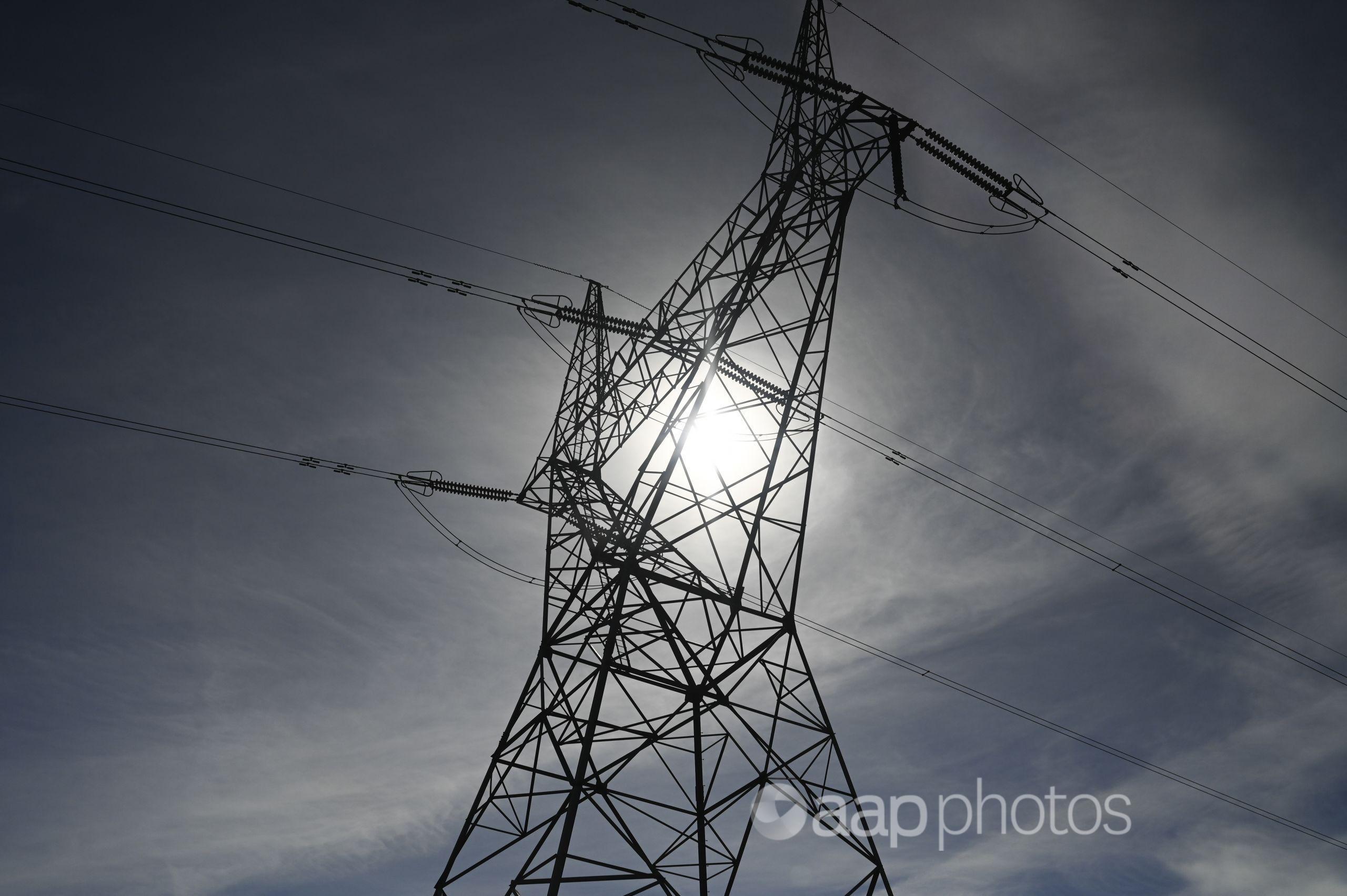 A power mast.