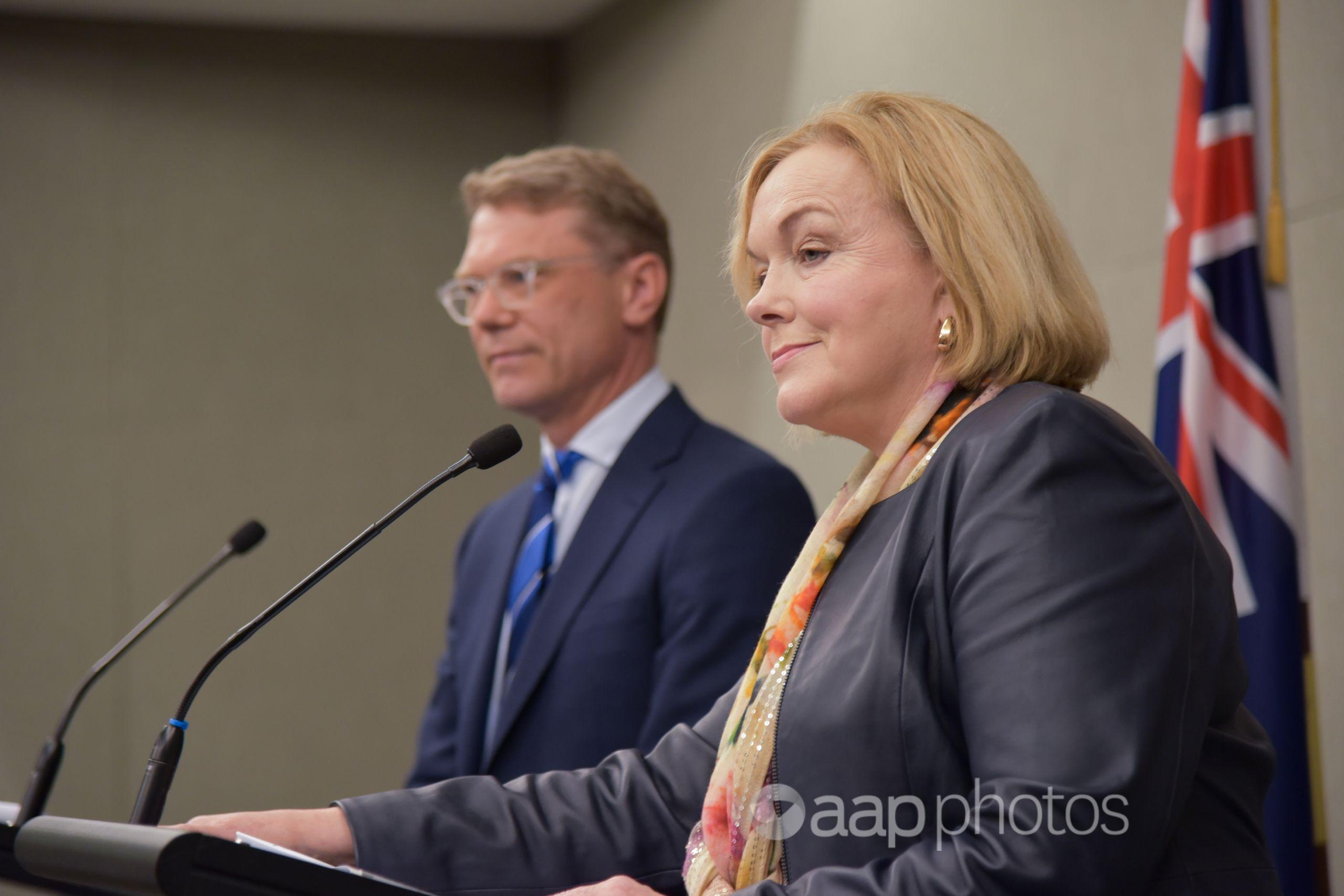 National's Paul Goldsmith and Judith Collins