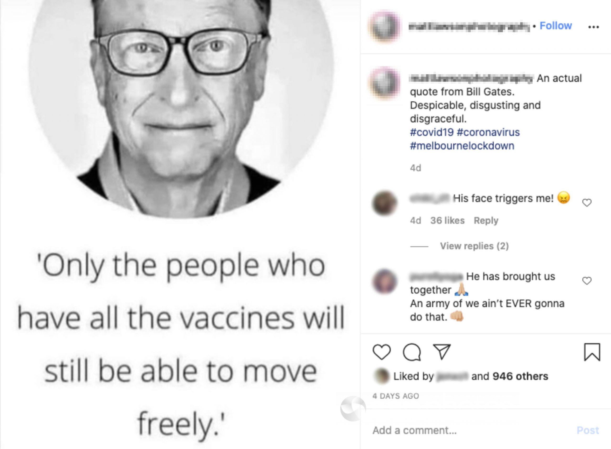 An Instagram post