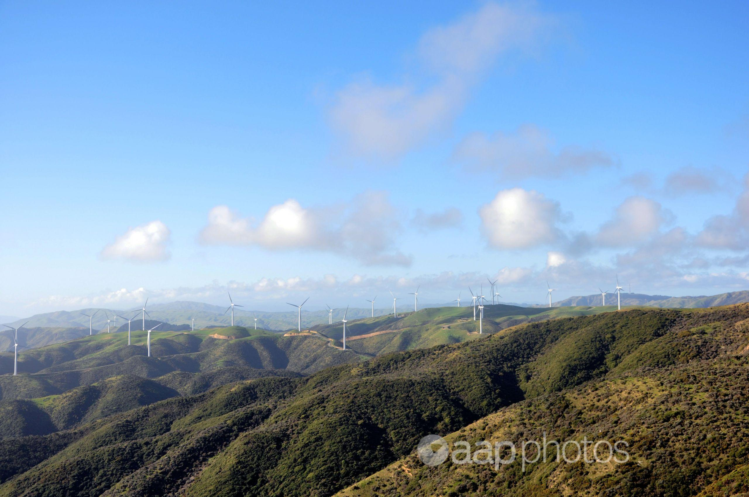 A wind farm near Wellington