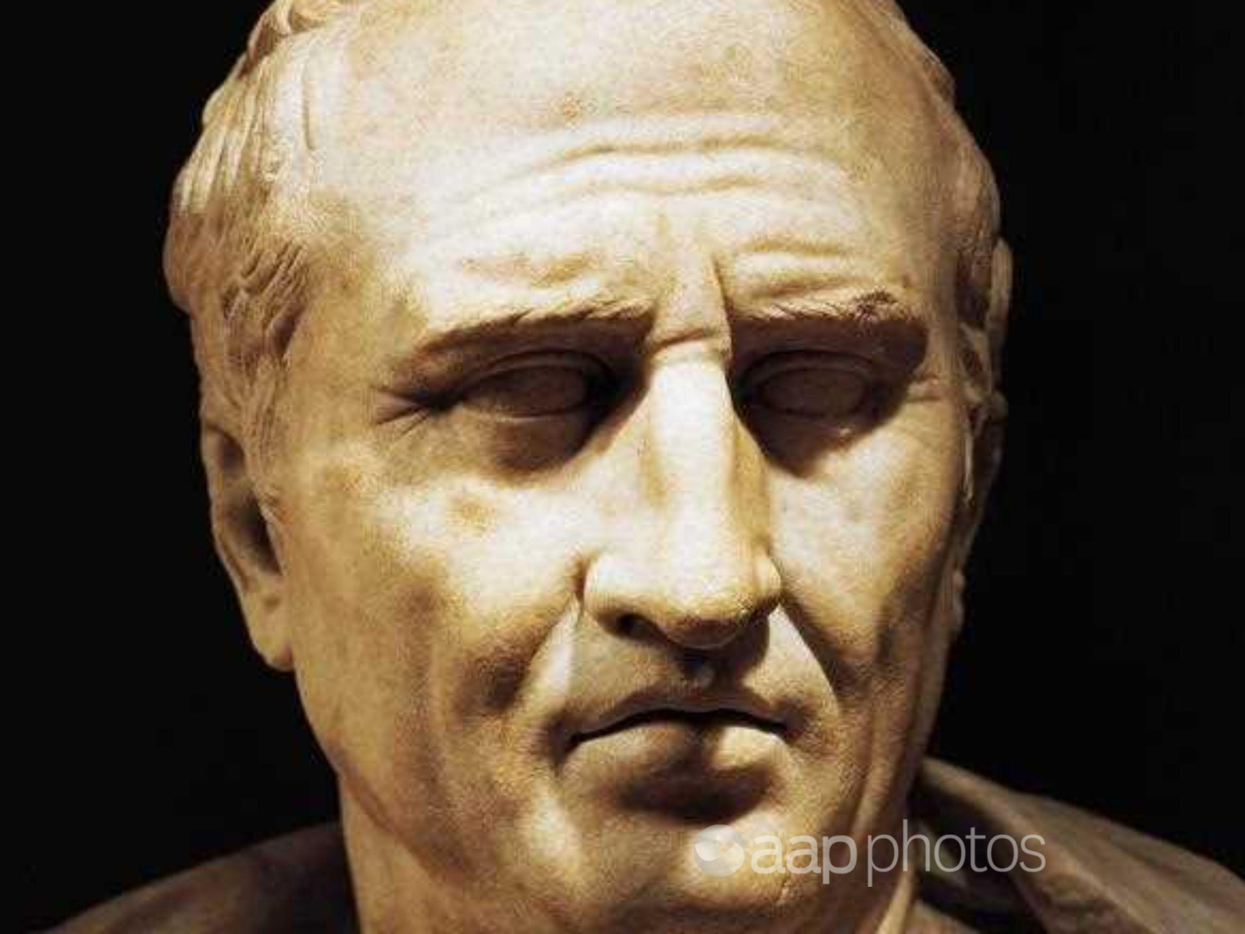 The marble head of Cicero