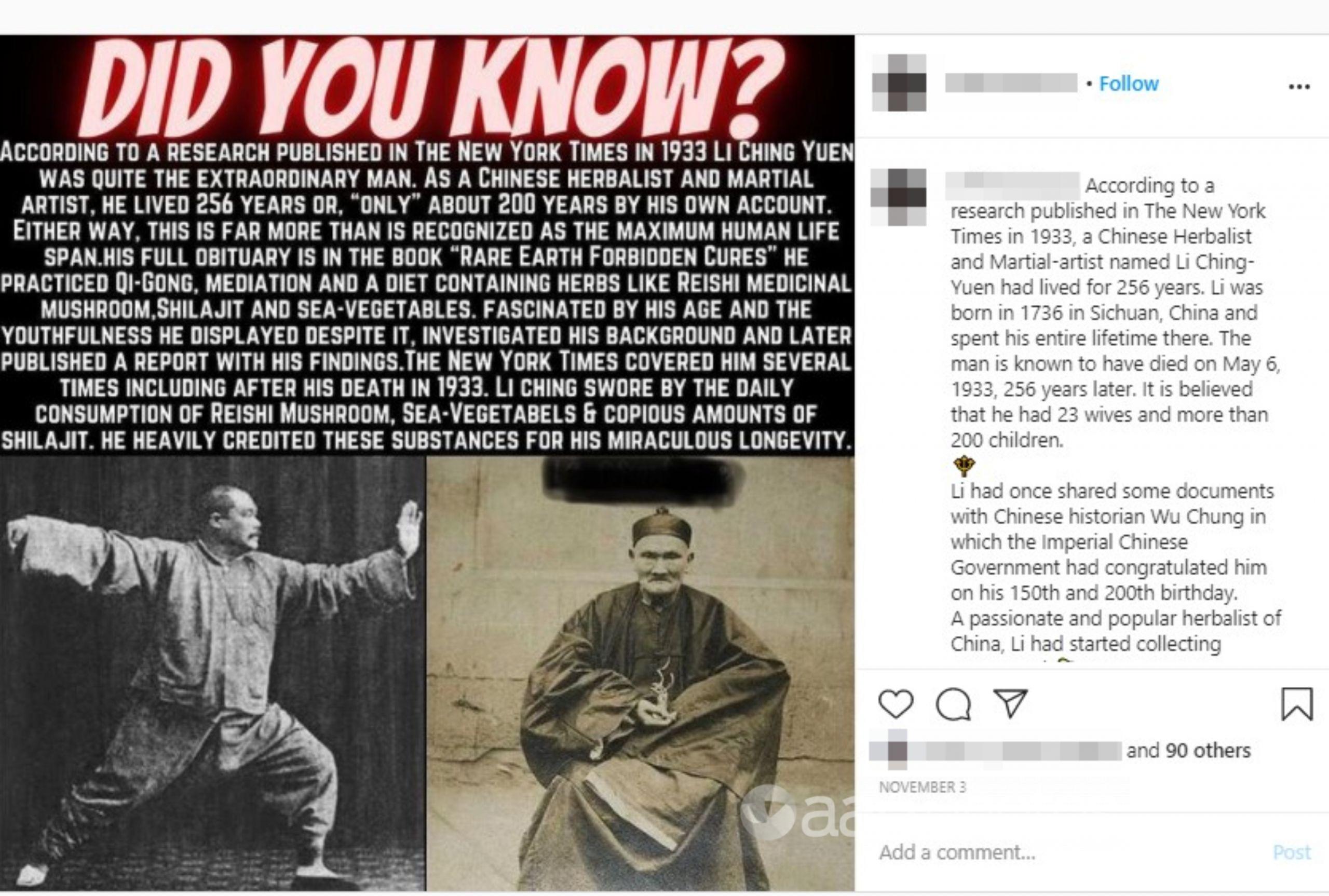 An Instagram post from November 3, 2020