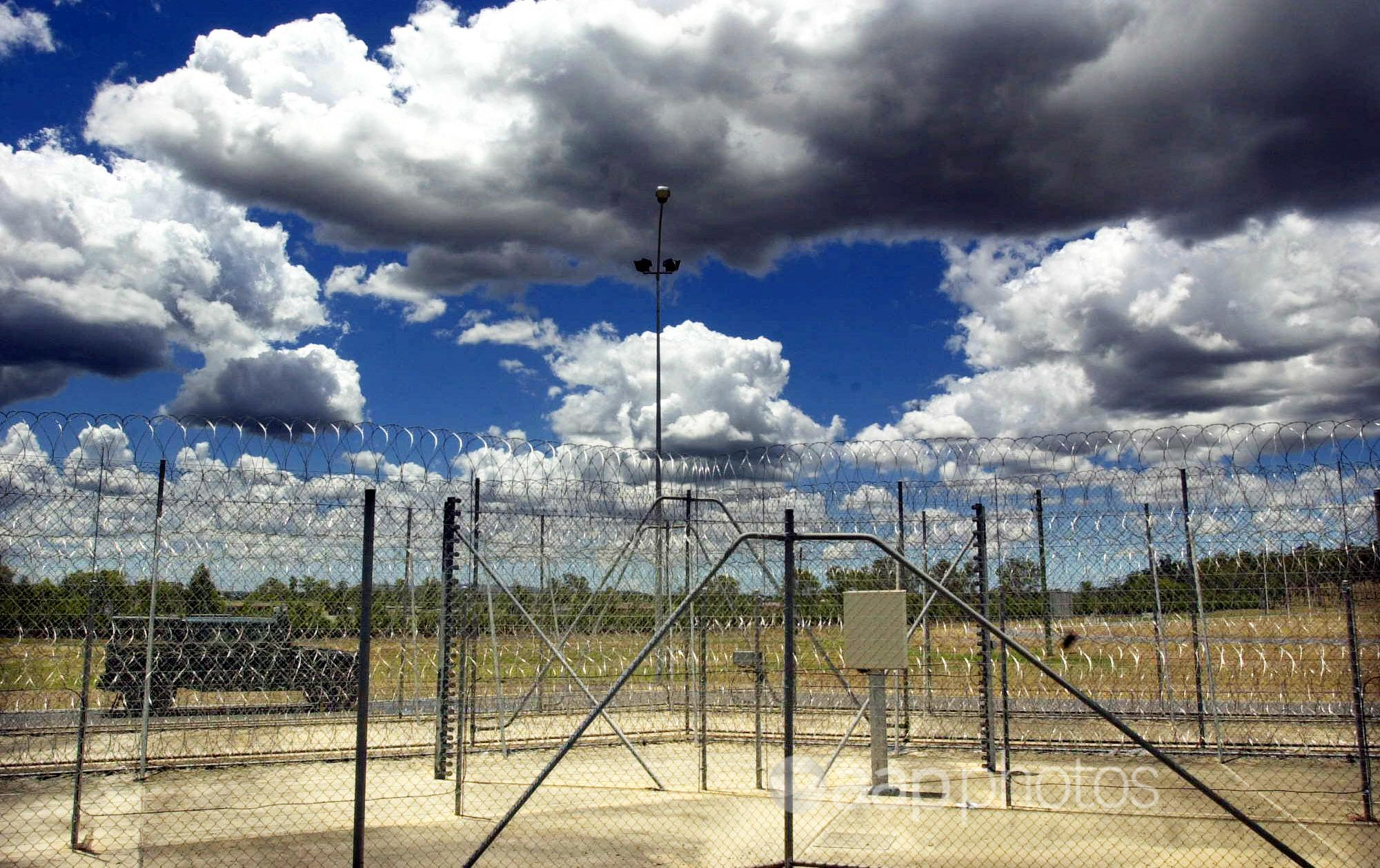 Razor wire fence at a correctional centre.