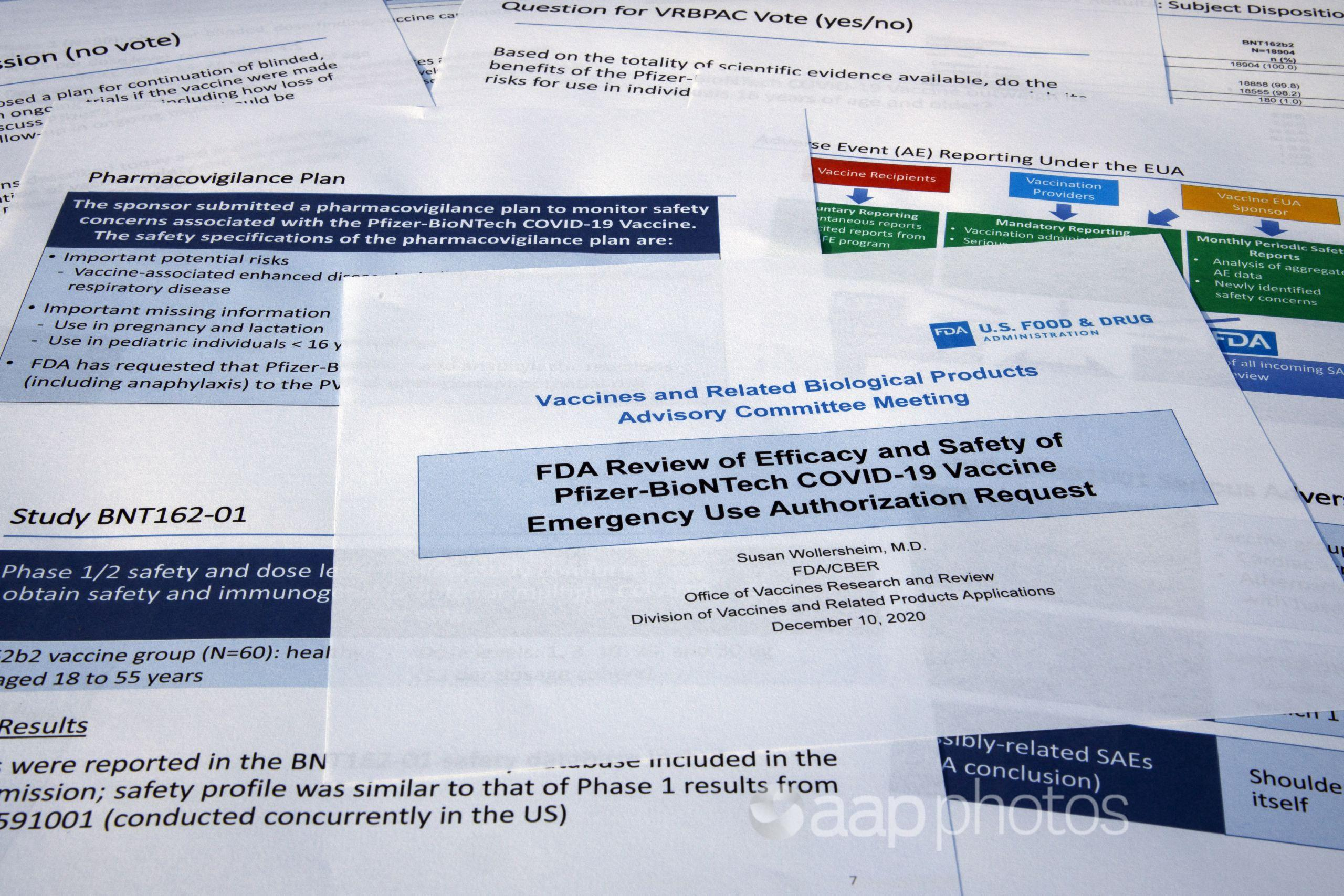 Documents created by the Food and Drug Administration