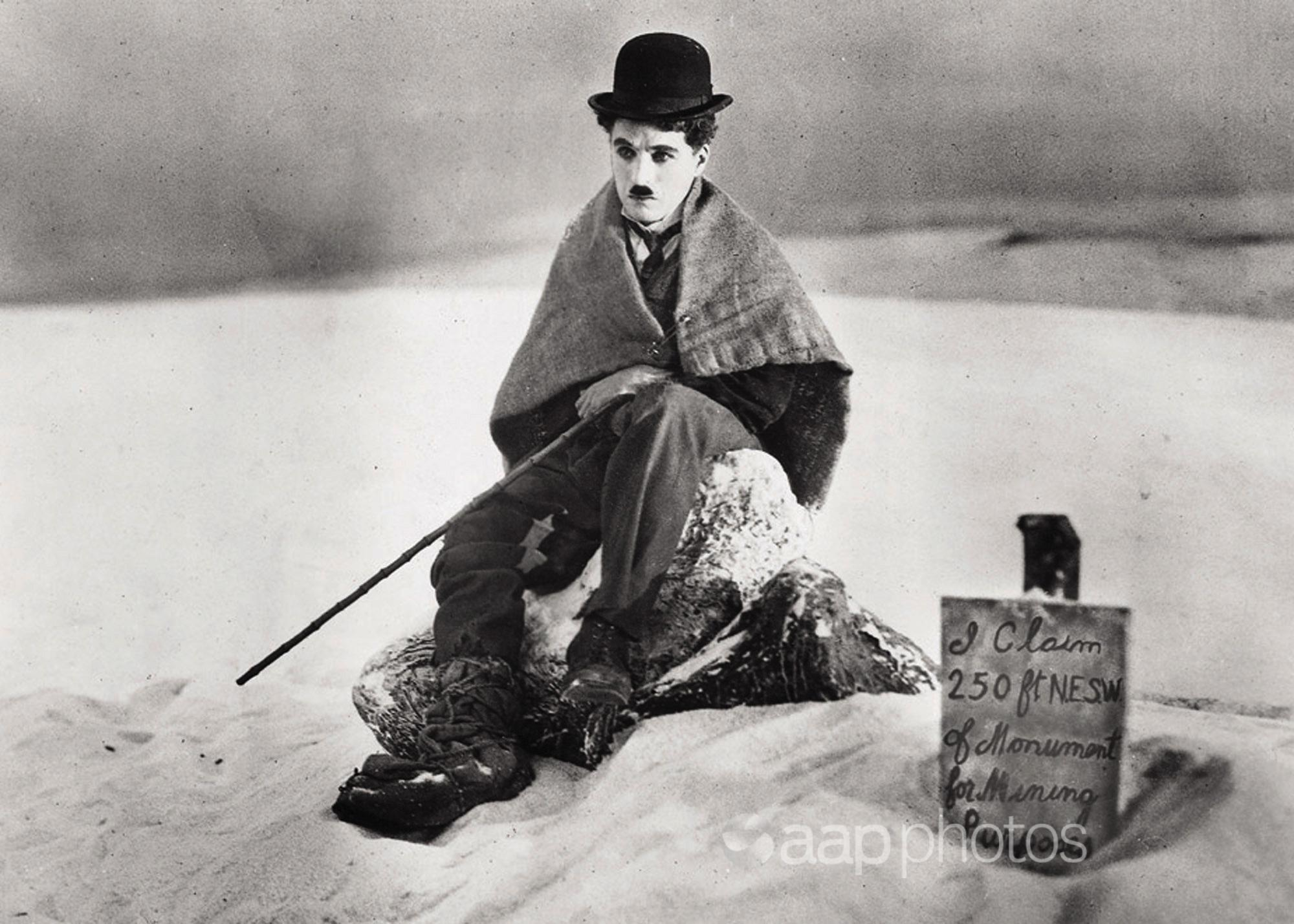 Actor-director Charlie Chaplin
