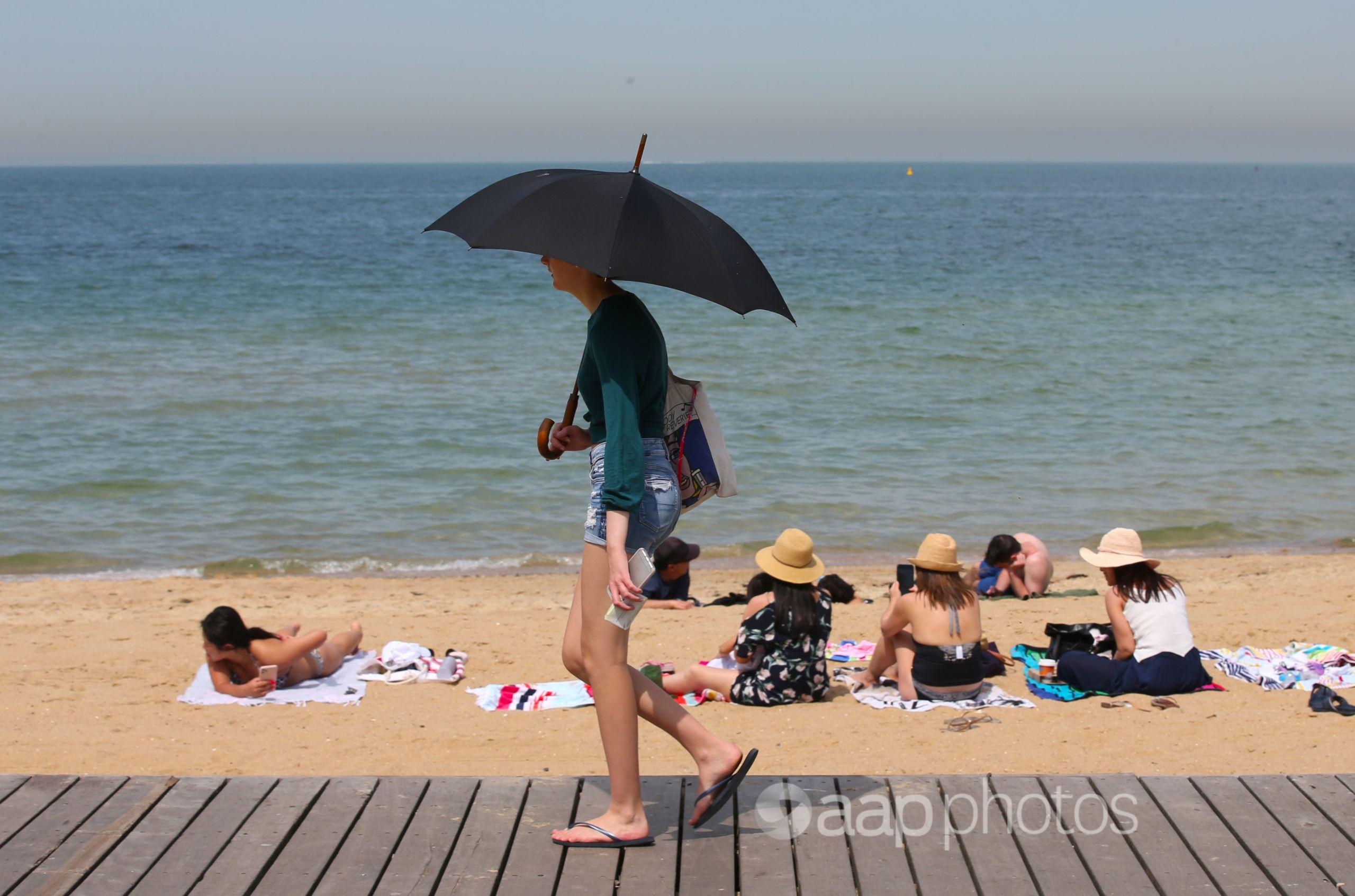 Hot weather in Melbourne
