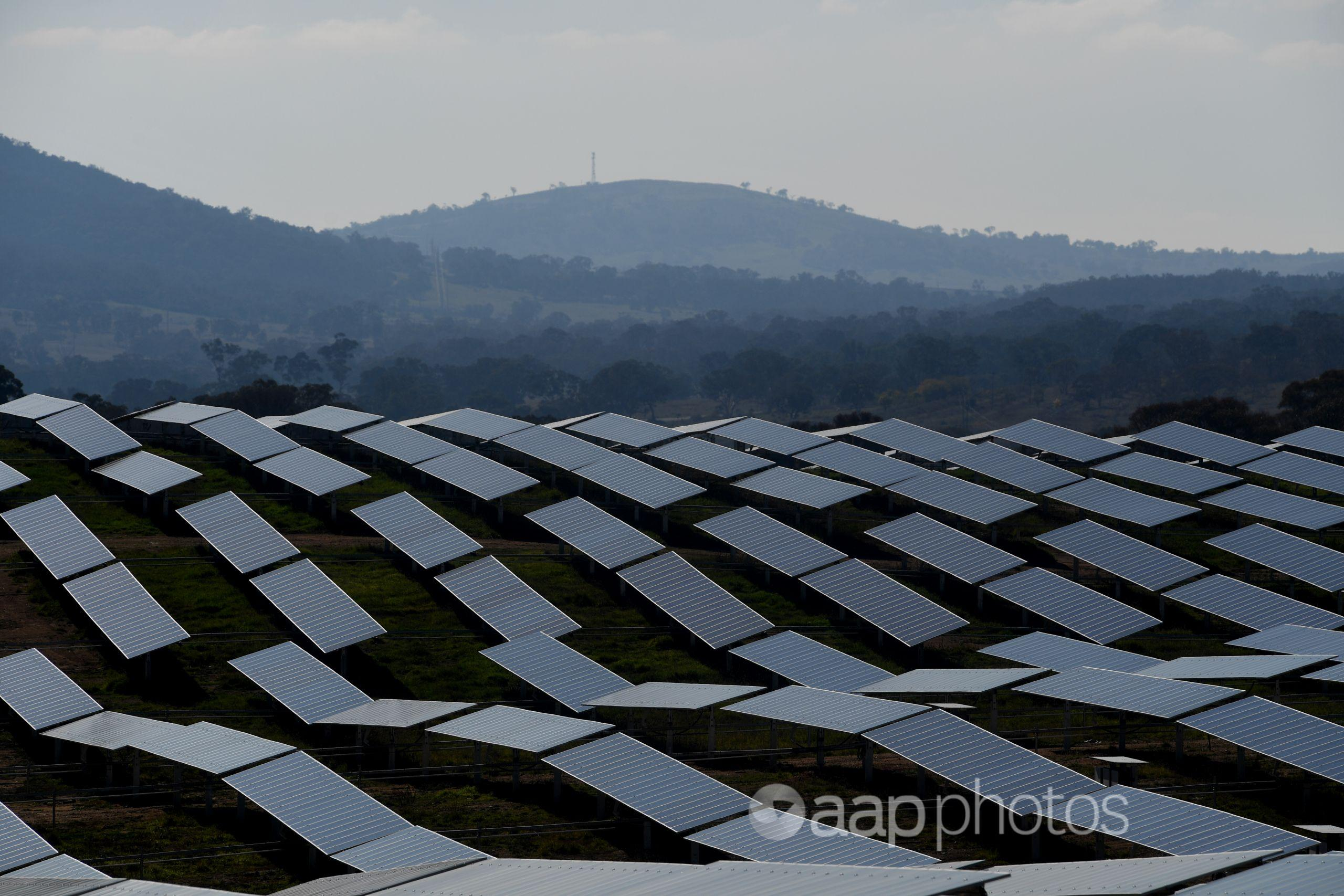 A solar farm outside Canberra