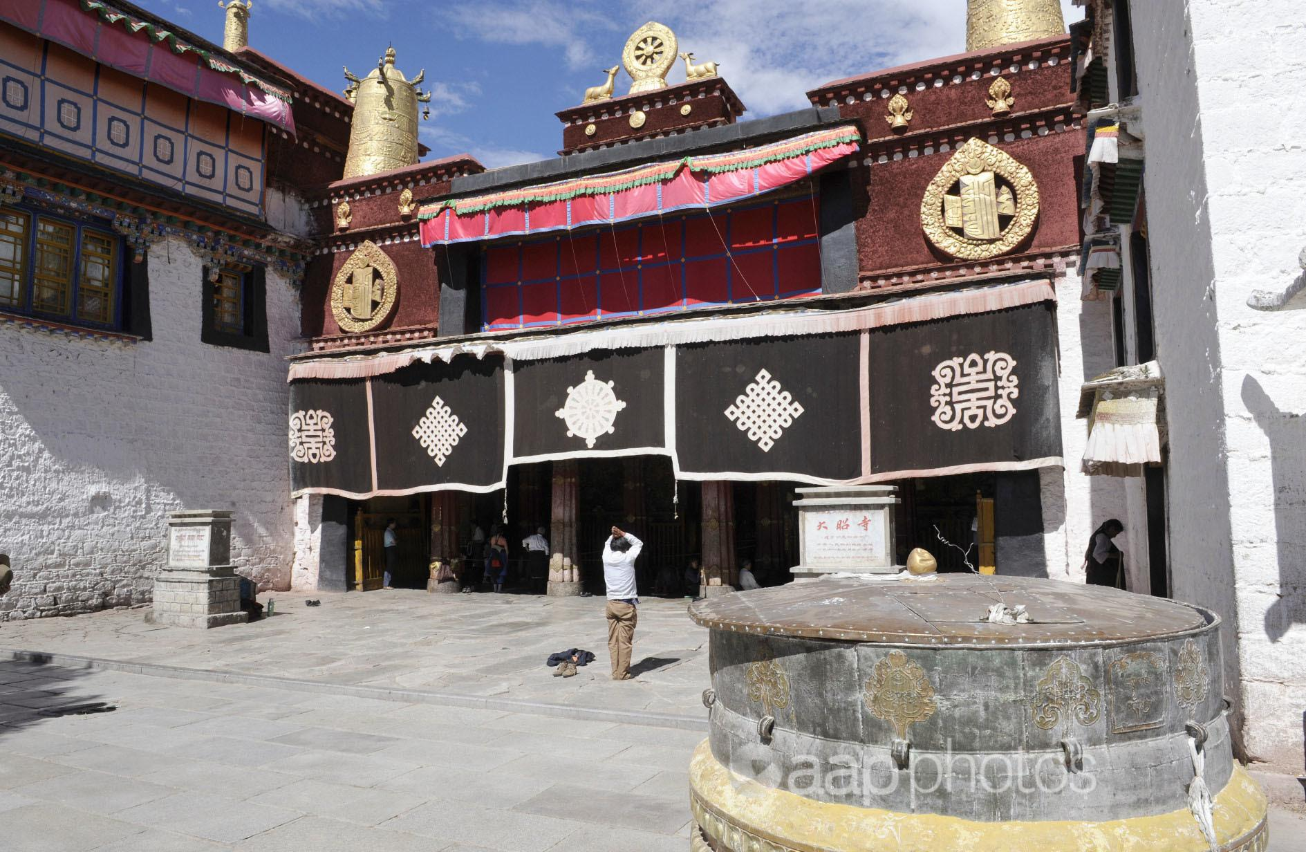 A monastery in Tibet.