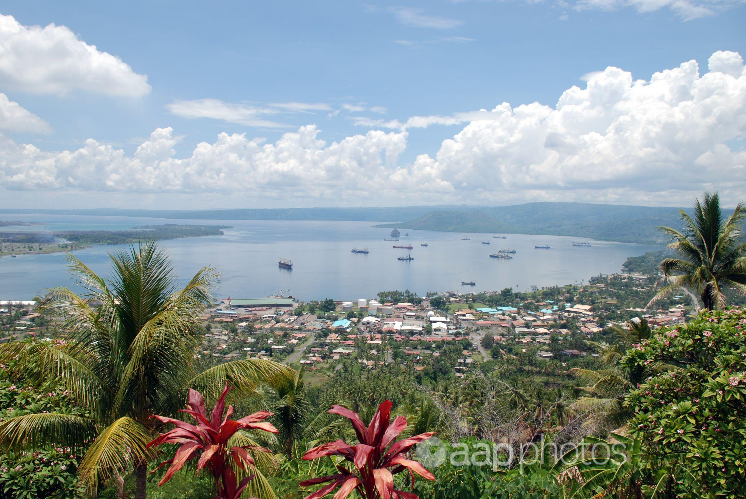 A view of the town of Rabaul, Papua New Guinea.