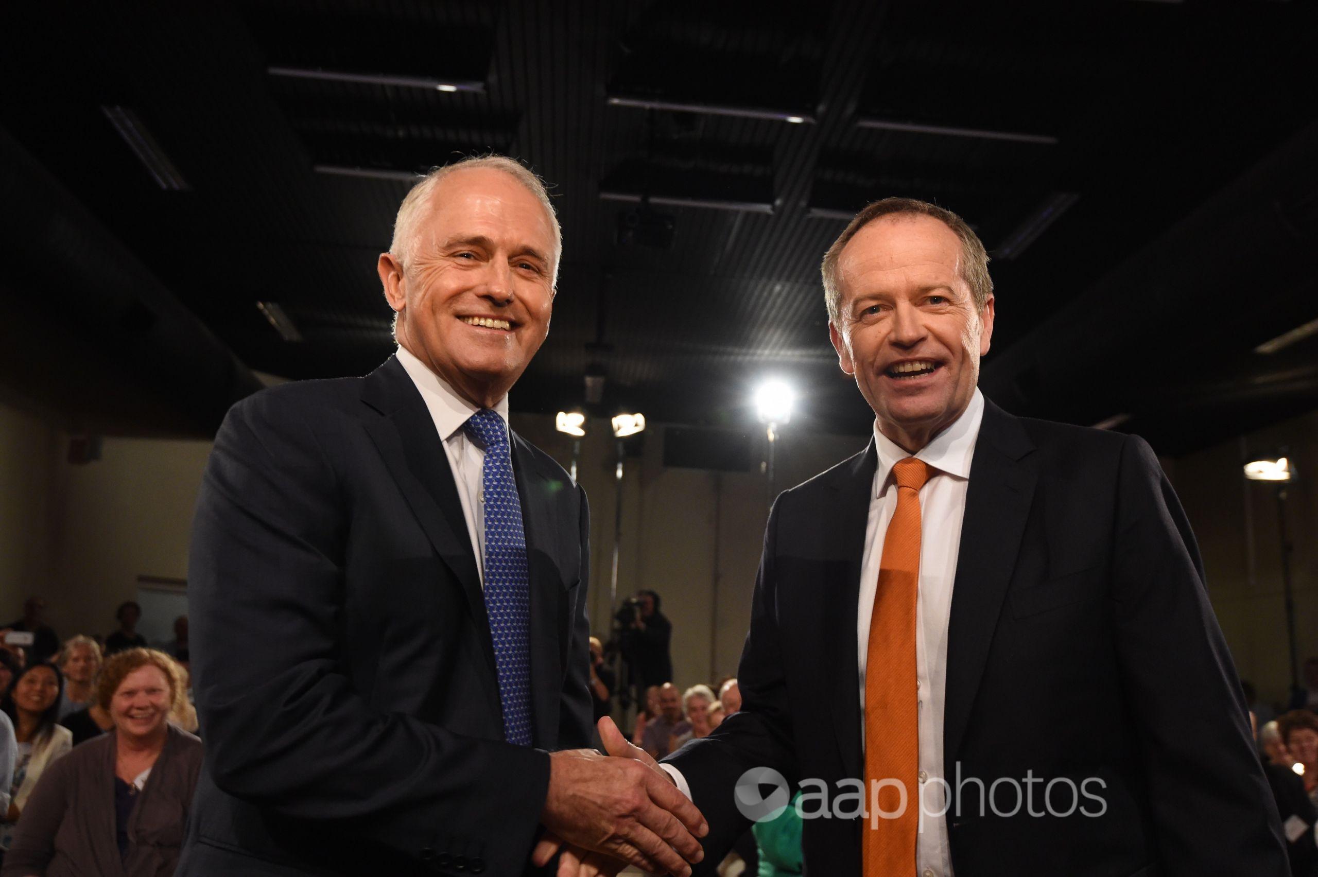 Malcolm Turnbull and Bill Shorten