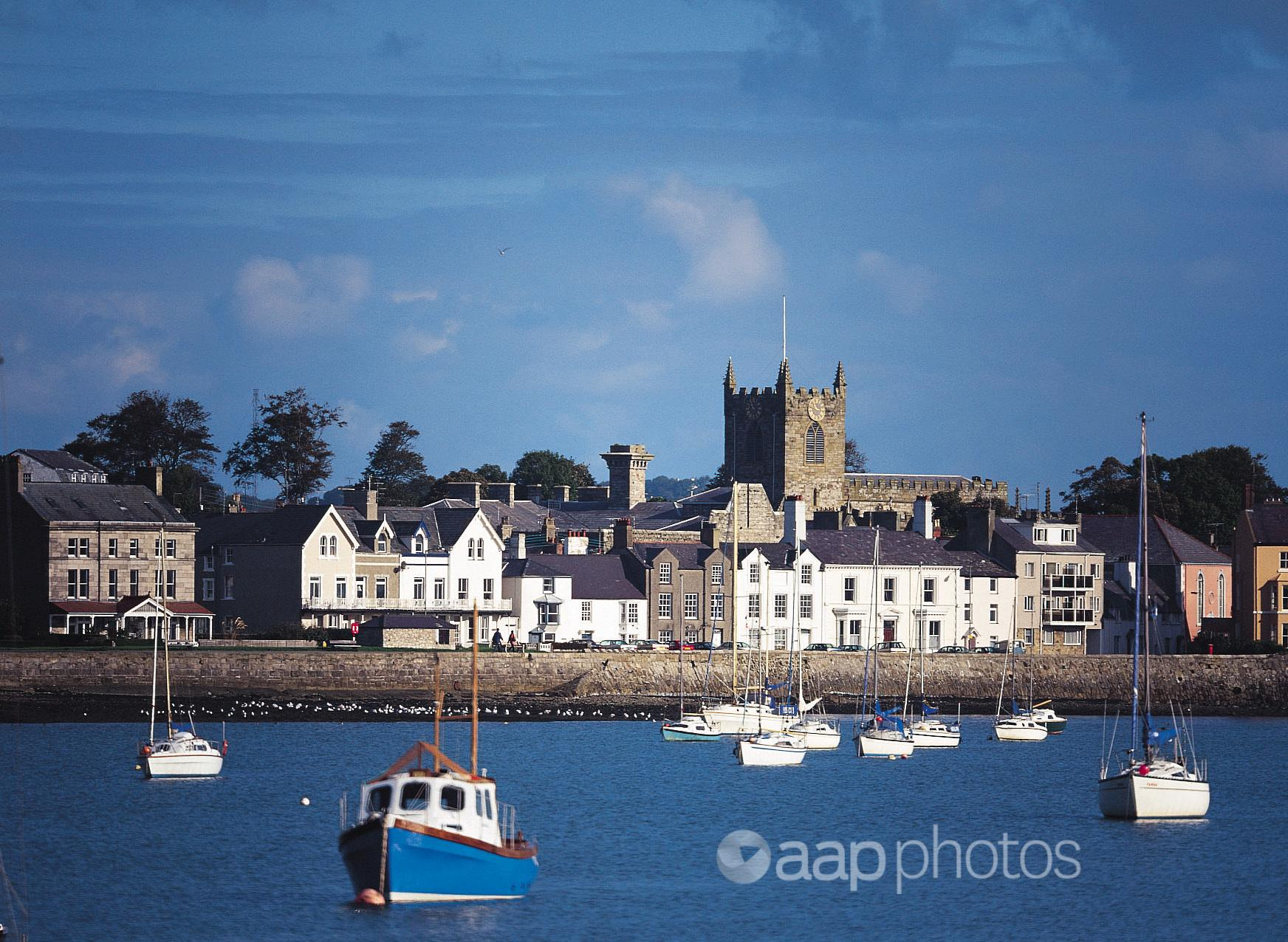 The waterfront of Beaumaris on the island of Anglesey.