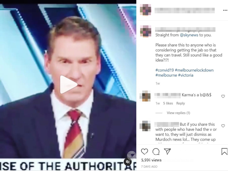 The Instagram video post