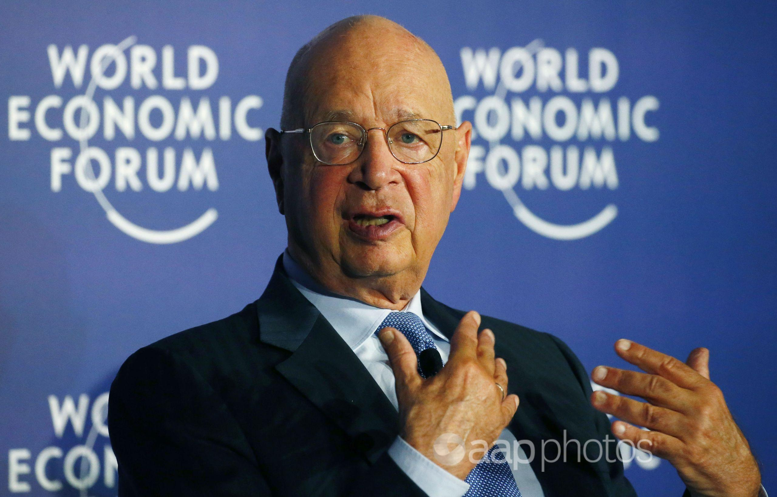 Klaus Schwab, executive chairman of the World Economic Forum