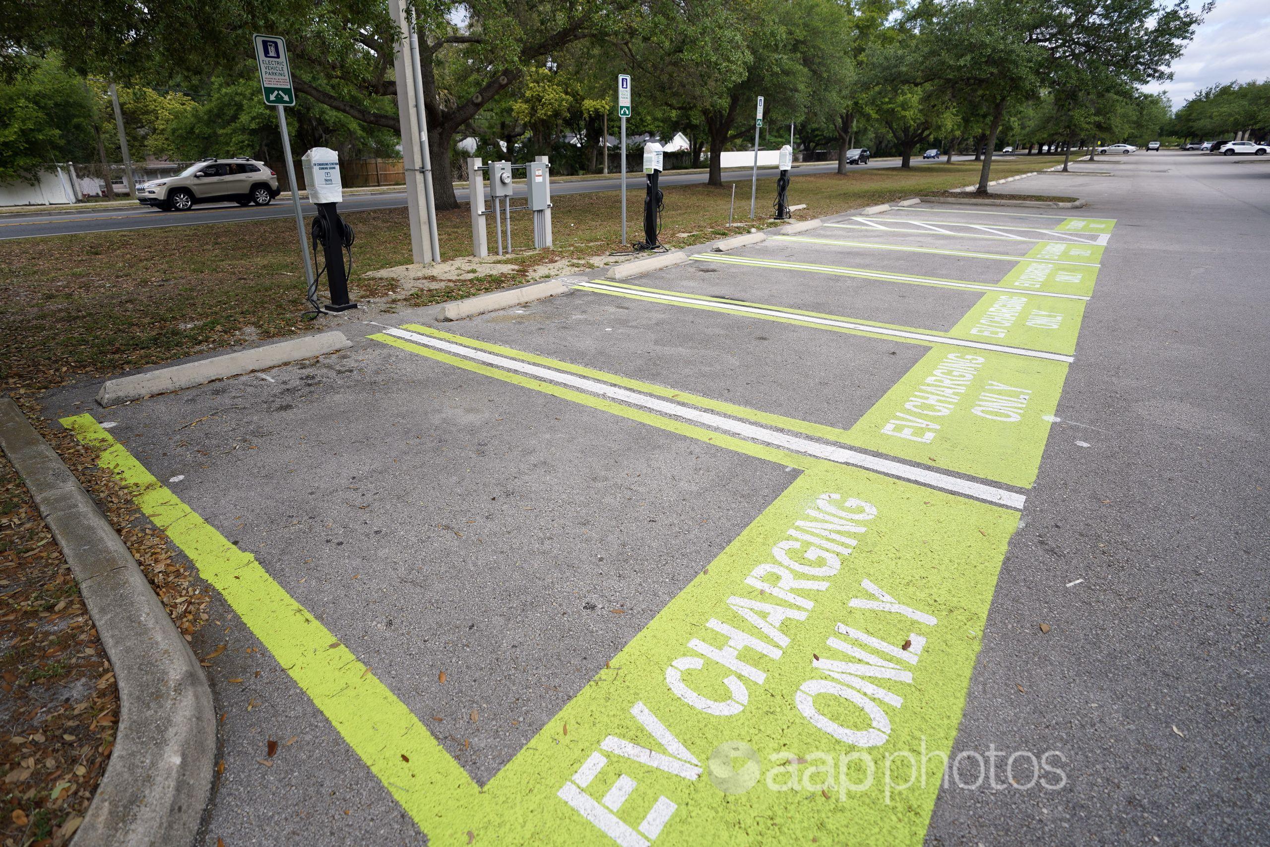 Public car parking spaces in Orlando, Florida