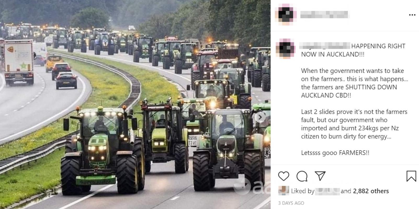 The Instagram post