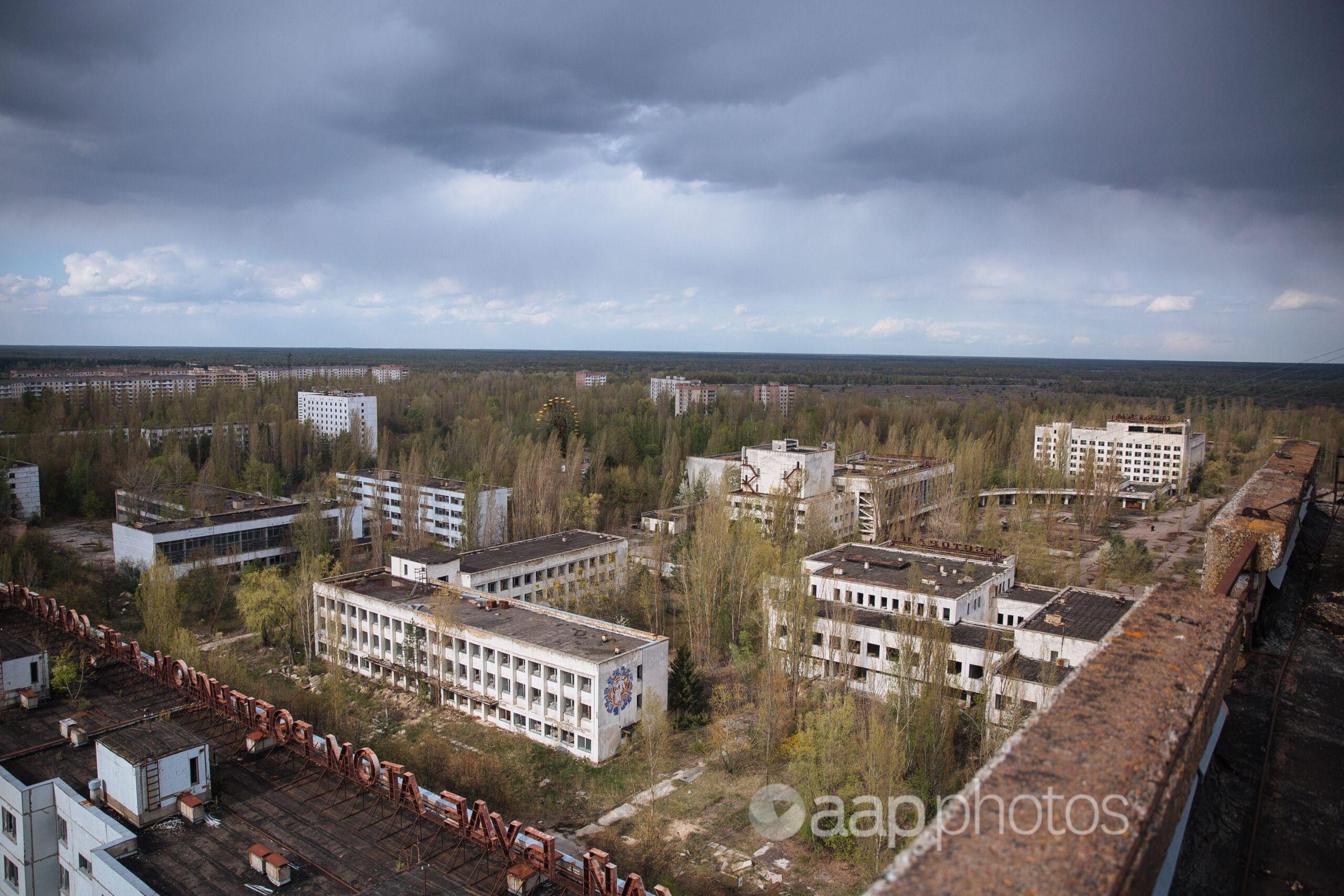 Pripyat, near the Chernobyl nuclear power plant.