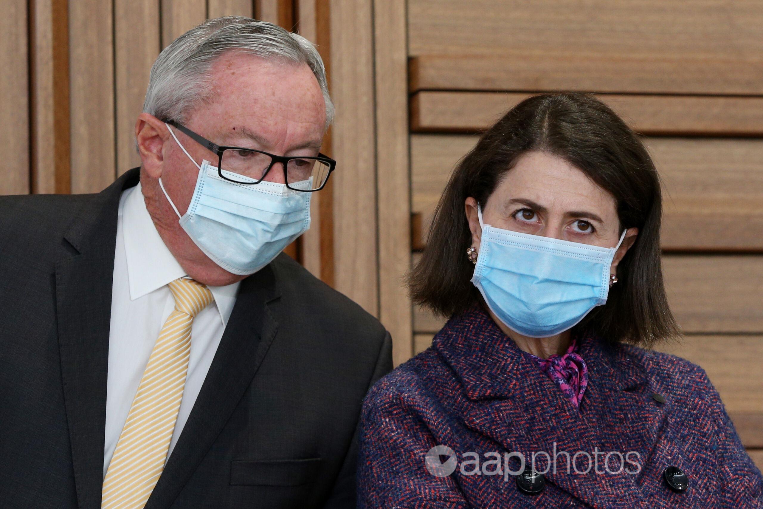 NSW Health Minister Brad Hazzard and Premier Gladys Berejiklian