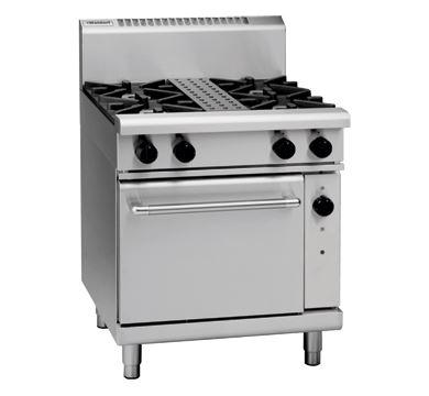 Waldorf 800 Series 750mm Gas Range Convection Oven with 2 Burners and 300mm Griddle Plate