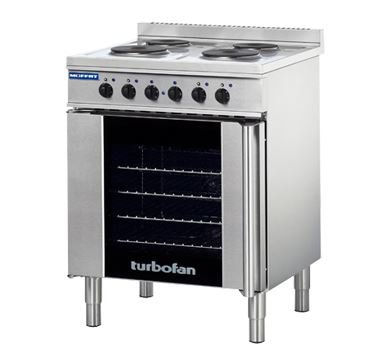 Turbofan Full Size Tray Electric Convection Oven And Cooktop
