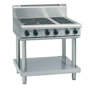 Waldorf 800 Series 900mm Electric Cooktop  Leg Stand, 600mm hotplate &  2 radiant element Cooktop