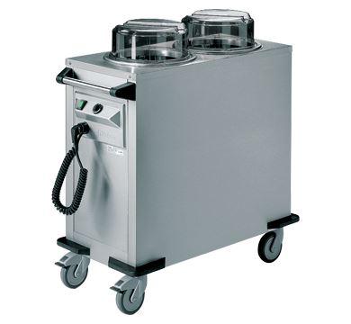 Rieber 56kgs Mobile Tubular Dispenser (Round) - Circular Air Heating