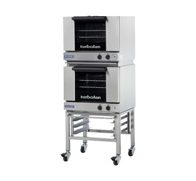 Turbofan Double Stacked Half Size Tray Manual Electric Convection Ovens
