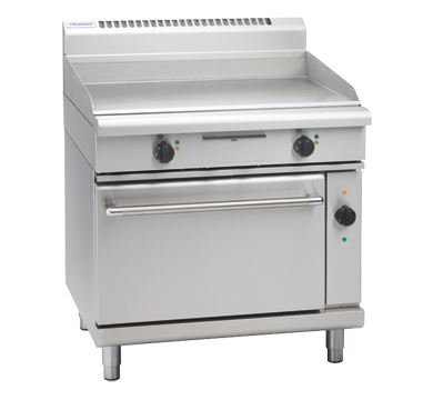 Waldorf 800 Series 900mm Electric Griddle Convection Oven Range Low Back Version