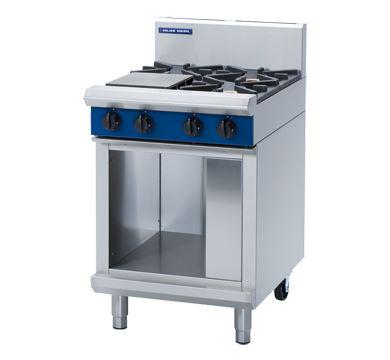 Blue Seal Evolution Series 600mm 4 burners cooktop on cabinet base Gas- Cabinet Base