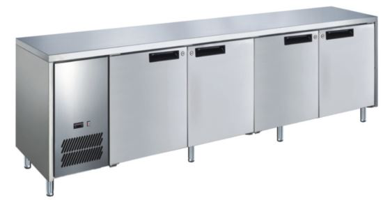 Advantage Platinum 4 Solid Door Slimline Underbar Fridge