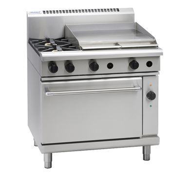 Waldorf 800 Series 900mm Gas Range Electric Convection Oven Low Back Version