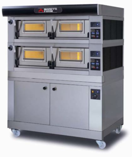 Moretti Forni Serie P Double Deck Electric Modular Oven With Refractory Stone Deck & Prover