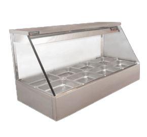 Woodson Straight Glass Hot Food Display  2 Bay Model