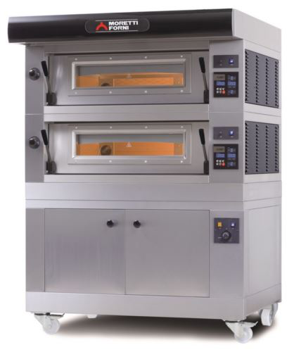 Moretti Forni Serie P Amalfi Hi-Tech Electric Double Deck Oven with Prover & Refractory Stone Deck & Internal Chamber