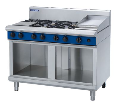 Blue Seal Evolution Series 1200mm Gas Cooktop  Cabinet Base with 6 Burners and 300mm Griddle Plate