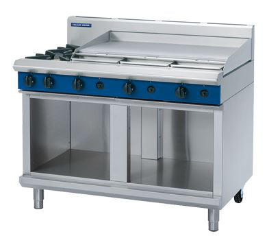 Blue Seal Evolution Series 1200mm Gas Cooktop  Cabinet Base with 2 Burners and 900mm Griddle Plate