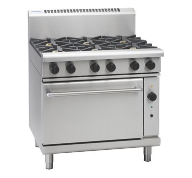 Waldorf 800 Series 900mm Gas Range Convection Oven Low Back Version with 900mm Griddle Plate