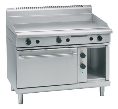 Waldorf 800 Series 1200mm Gas Griddle Electric Static Oven Range
