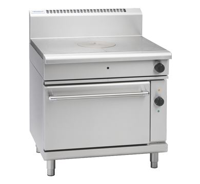 Waldorf 800 Series 900mm Gas Target Top Electric Convection Oven Range