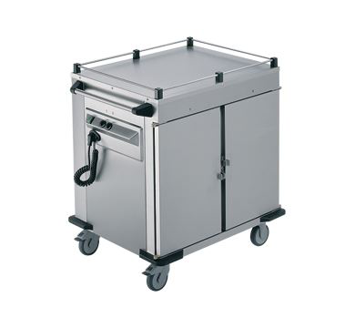 Rieber 2 x Heated Cabinets Mobile Food Transport Trolley