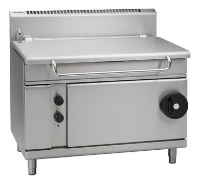 Waldorf 800 Series 1200mm Gas Tilting Bratt Pan Manually operated tilting mechanism