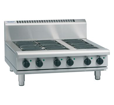 Waldorf 800 Series 900mm Electric Cooktop Low Back Version  Bench Model
