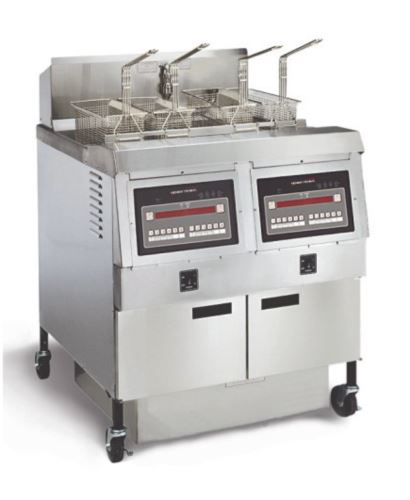 Henny Penny OFG322/8000 Full Gas Full Double Well Open Fryer With 8000 Computron Contriols