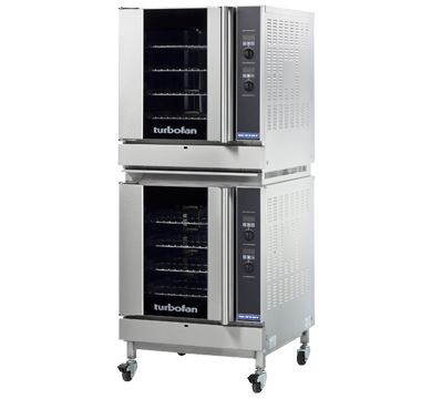 Turbofan Double Stacked Full Size Tray Digital Gas Convection Ovens